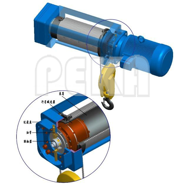Electric hoist gearbox